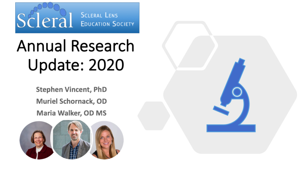 Catch up on Scleral Lens Research Updates 2020
